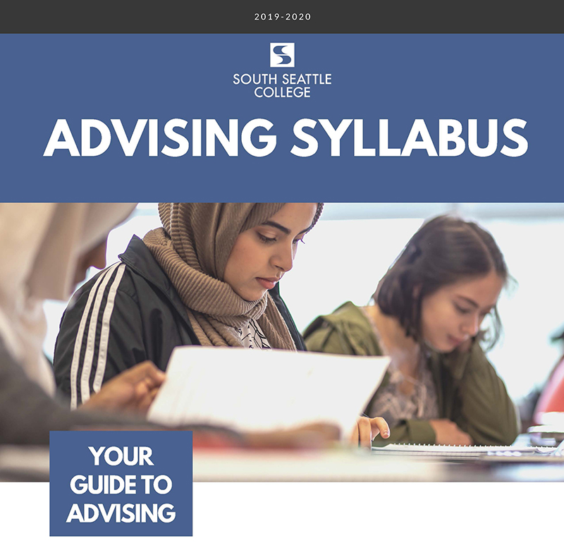 CIE Advising Syllabus cover, students studying